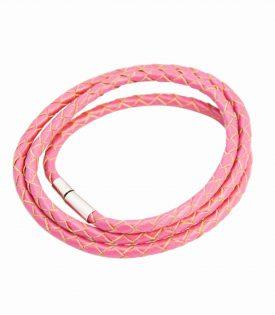 Armband Läder Smal - Hot Pink F2821HPK04