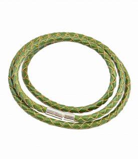 Armband Läder Smal - Green F2821GN04