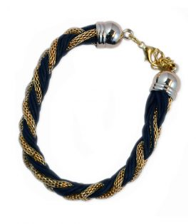 Armband Braided Gold Black