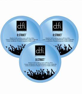 3-pack D:fi D:struct Molding Cream Blå Stor 150g