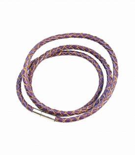 Armband Läder Smal - Purple F2821PU04