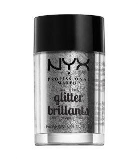NYX PROF. MAKEUP Face & Body Glitter - 10 Silver 2,5g