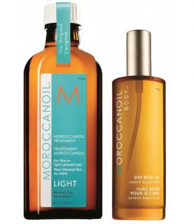 Giftset Moroccanoil Hair & Body Oil Set Light