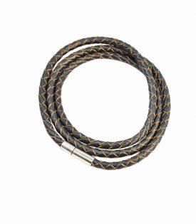 Armband Läder Smal - Deep Gray F2821DGY04