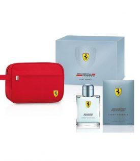 Giftset Ferrari Scuderia Light Essence Edt 125ml + Pouch