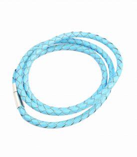 Armband Läder Smal - Blue F2821BU04