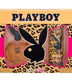 Gifset Playboy Play It Wild Female Edt 90ml + DSP 150ml