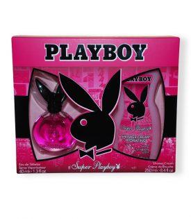 Giftset Playboy Super Playboy Female Edt 40ml + SG 250ml