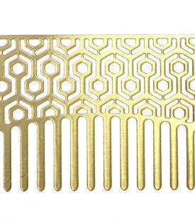 Go Comb Brass Hexagon