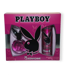 Giftset Playboy Queen Of The Game Edt 40ml + DSP 150ml