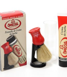 Omega Shaving Brush and Cream