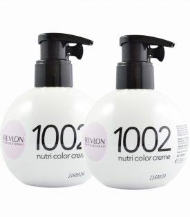 2-pack Revlon Nutri Color Creme 1002 White Platinum 270ml