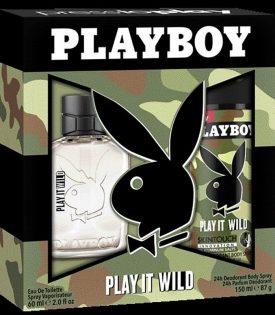 Giftset Playboy Play It Wild Edt 60ml + DSP 150ml