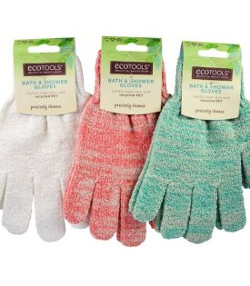 Eco Tools Recycled Bath And Shower Gloves Green